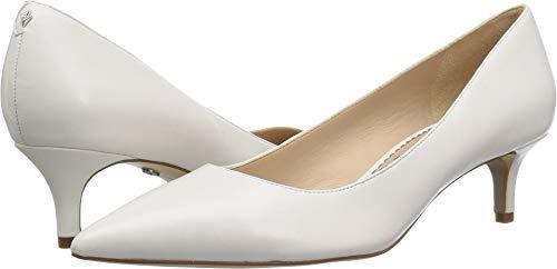 Sam Edelman Women's Dori Pump, Bright White Leather, 8.5 M US