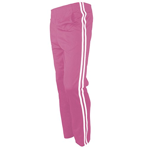 (myglory77mall Men's Running Jogging Track Suit Warm Up Pants Gym Training Wear (XL US(3XL Asian Tag), Pink))