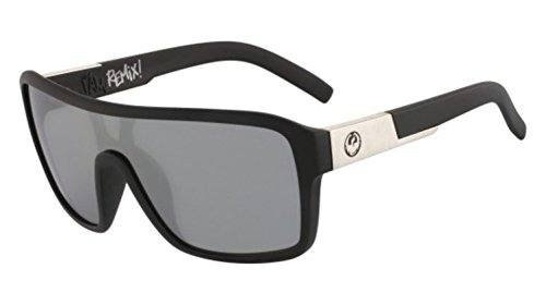 Dragon Alliance Matte Black Silver Ion Remix Sunglasses by Dragon Alliance
