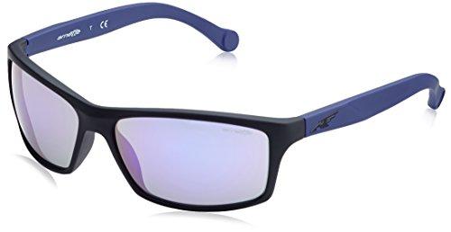 Arnette Men's Boiler Non-Polarized Iridium Rectangular Sunglasses, FUZZY BLACK, 61.1 mm ()