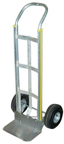 Aluminum Curved Frame (Milwaukee Hand Trucks 45110 Aluminum Flow Back Handle Truck with Curved Frame and 10-Inch Pneumatic Tires)