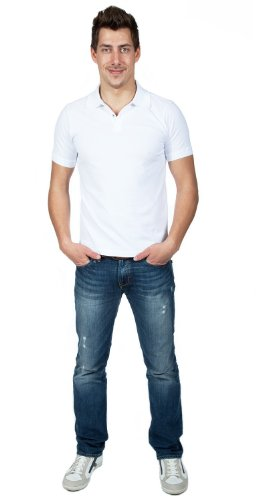 Alpha by Massimo Rebecchi Herren Polo Shirt 10041371-Weiss