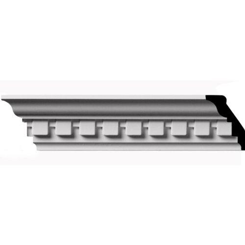 Ekena Millwork MLD03X01X03DE 2 3/4-Inch H x 1 7/8-Inch P x 3 1/4-Inch F x 96-Inch L  Dentil Crown Moulding - Dentil Crown Moulding