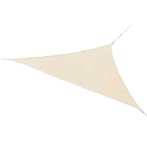 Coolaroo Ready-to-hang Triangle Shade Sail Canopy, Pebble, 13 Feet Triangle