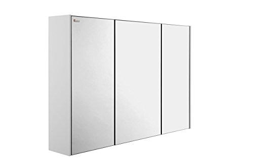 VALENZUELA Class 48 Inch Medicine Cabinet Bathroom Vanity Mirror, Wall Mount, 3 Doors, White Matte Finish (VLTB120102) by DAX