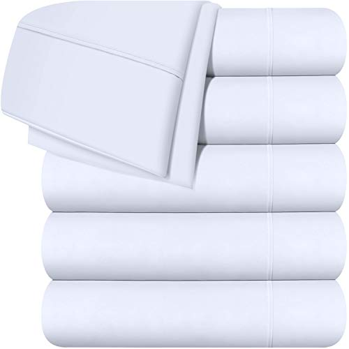 Utopia Bedding Flat Sheet 6 Pack (Twin, White)