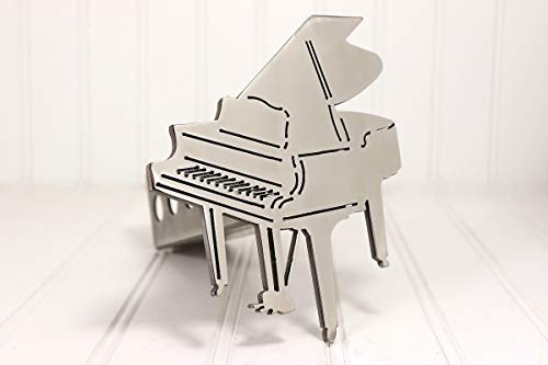 Custom Hitch Covers 12066-Stainless Grand Piano Hitch Cover (Custom Piano Covers)