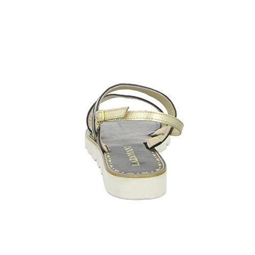 Lazamani 33564 sandalia de tacón alto de suelo de estilo deportivo para mujer negro - negro