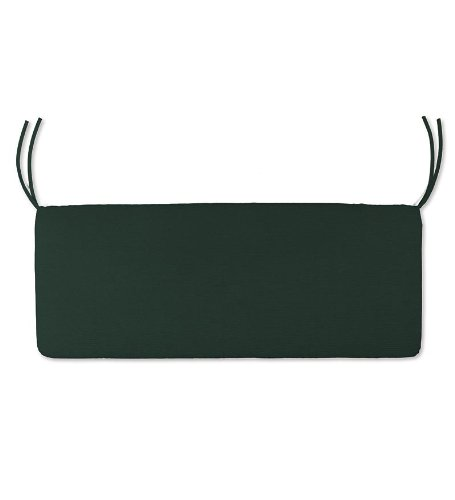 36'' x 16'' Weather-Resistant Outdoor Classic Swing/Bench Cushion, in Forest Green by Plow & Hearth