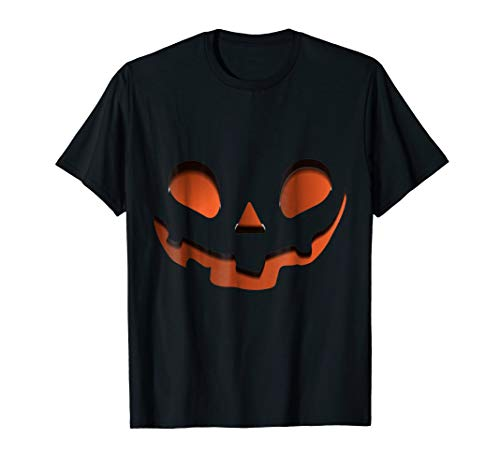 Amazing 3D Jack-O-Lantern Pumpkin Face Halloween Shirt 2018 -