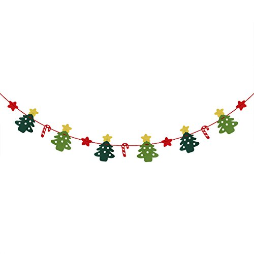 LUOEM Merry Christmas Banner Sign Party Decorations Garland