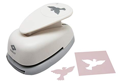"""Bira 2""""inch Dove 2 Lever Action Craft Punch, Christmas Punch, for Paper Crafting Scrapbooking Cards Arts"""
