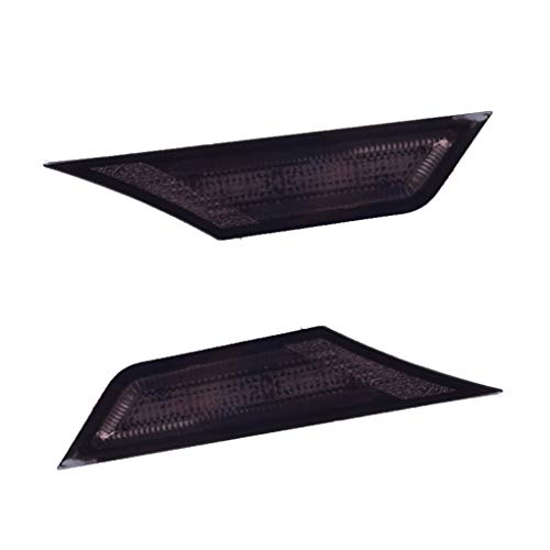 Tralntion 1 Pair Replacement for 16-up Honda Civic Sedan/Coupe Car Lamp Black Side Marker Light Lens Left/Right