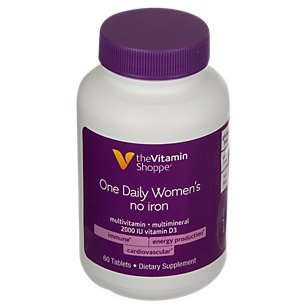 The Vitamin Shoppe One Daily Womens No Iron Multi 60 Tablets