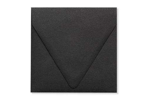 5 x 5 Square Contour Flap Envelopes - Midnight Black (50 Qty.)