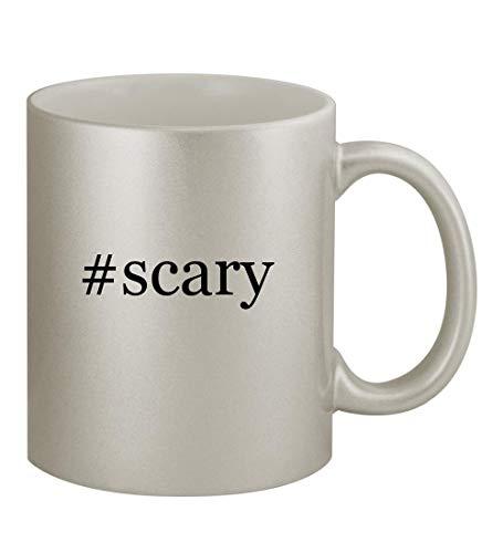 #scary - 11oz Hashtag Silver Sturdy Ceramic Coffee Cup Mug -