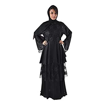 Yasmin Black Casual Abaya For Women