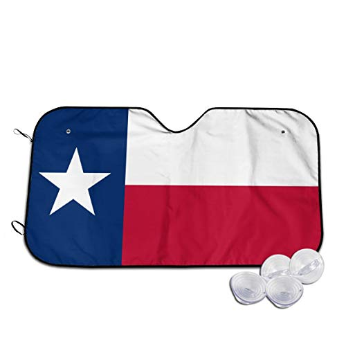 (Flag of Texas Automotive Windshield Sunshades, Durable Durable Windshield Sun Shades for Car Auto Truck SUV,)