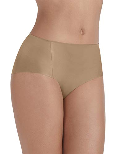 Vanity Fair Women's Underwear Nearly Invisible Panty, Totally Tan, X-Large/8
