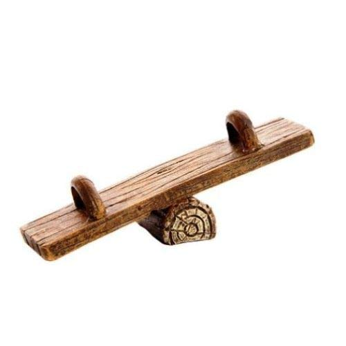 (ShopForAllYou Figurines and Statues Miniature Dollhouse Fairy Garden Wood Plank Teeter Totter)