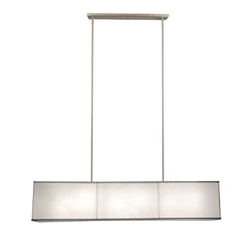 Rectangular Pendant Light With Shade in US - 3