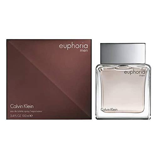 CK Euphoria Men Eau De Toilette Spray 3.4 fl oz / 100 ml (Euphoria Perfume For Men)