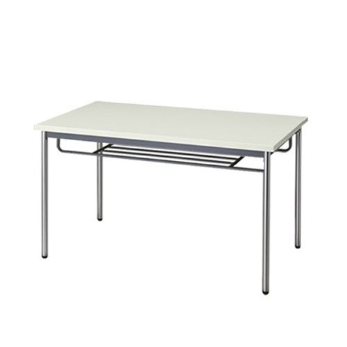 生興 テーブル MTS型会議用テーブル W1200×D750×H700 4本脚タイプ 棚付 MTS-1275IT ニューグレー B015XOLVOG ニューグレー ニューグレー