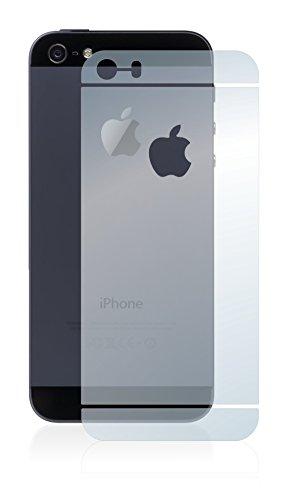 [6 Pack] Savvies Pellicola Protettiva per Apple iPhone SE Posteriore (totale + LogoCut) Protezione Proteggi Schermo - Trasparente