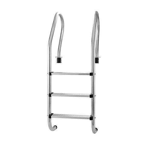 VEVOR Pool Ladder 3 Step Stainless Steel Ladder 24 inch Swimming Pool Ladder Above Ground (Stainless Steel Ladder)
