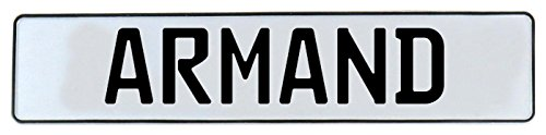 Vintage Parts 579088 Wall Art (, 1 pack,  Armand White Stamped Aluminium Street Sign - Circle St Armand