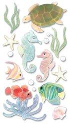 Le Grande Vellum Dimensional Stickers - Bulk Buy: Jolee's Boutique Le Grande Dimensional Vellum Sticker Sea Horses VELJLG-006 (6-Pack)