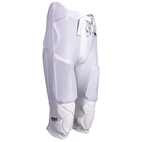- Schutt Sports DNA All-in-One Varsity Football Pants Integrated Pads, Large, White