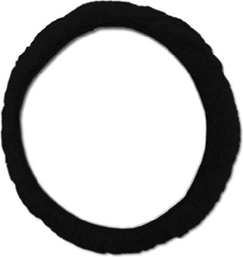 Lenkradbezug Lammfell schwarz
