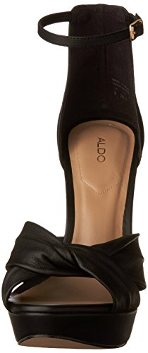 AMELINE Aldo Sandal Leather Women's Heeled Black 545rKTUy7