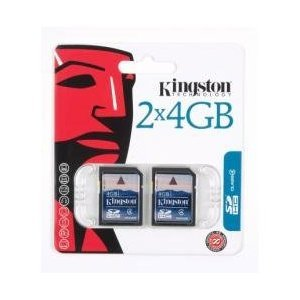 Kingston 4 GB Class 4 SDHC Flash Memory Card 2-Pack SD4/4GB-
