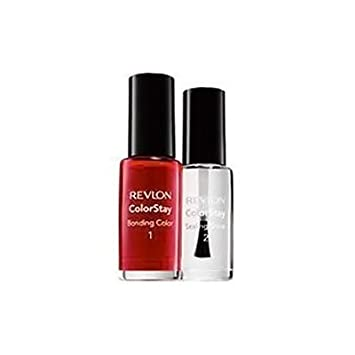 Amazon.com : Revlon ColorStay Bonding Color and Sealing Shine Nail ...