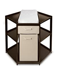 Espresso Corner Changing Table by Badger Basket BOBEBE Online Baby Store From New York to Miami and Los Angeles