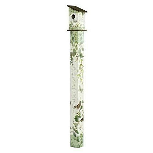 Studio M Eucalyptus Birdhouse Art Pole Neutral