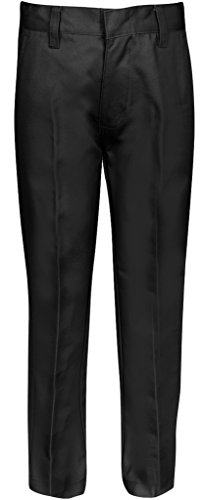 Premium Flat Front Pants for Boys with Adjustable Waist 14 Husky -