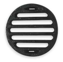Industrial Grade 1PPF1 Shower Drain Grid, Pipe Dia 4 In, (Cast Iron Drain Pipe)