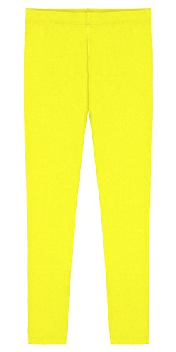 Popular Big Girl's Cotton Ankle Length Leggings - Yellow - 10