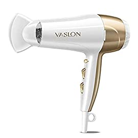 VASLON 1875W Lightweight Negative Ions Hair Blow Dryer with Concentrator Nozzle 2 Speed and 3 Heat Settings Cool shot button DC Motor White (White) - 31o 2Bxjx0zBL - VASLON 1875W Lightweight Negative Ions Hair Blow Dryer with Concentrator Nozzle 2 Speed and 3 Heat Settings Cool shot button DC Motor White (White)
