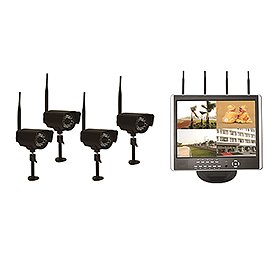 Astrotel DVR-LCD4 2.4GHz H.264 Digital Wireless DVR System with 15-Inch LCD Monitor and 4 CCD Cameras by Astrotel USA