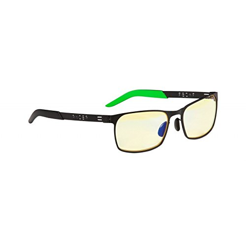 GUNNAR Gaming and Computer Eyewear /Razer FPS, Amber Tint - Patented Lens, Reduce Digital Eye Strain, Block 65% of Harmful Blue Light