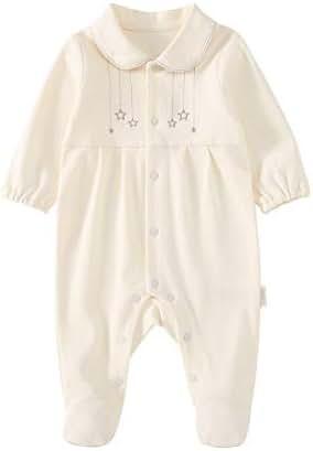 pureborn Newborn Baby Girl Footie Footed Snug Fit Pajamas Cotton Sleep and Play
