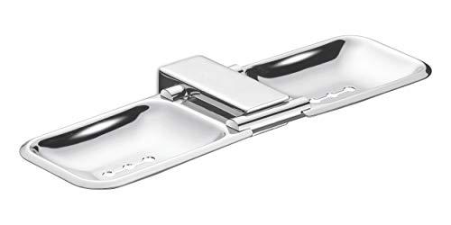 Dazzle Stainless Steel Double Soap Dish Holder/Soap Case (Silverish)-DG1015 (B00TV1URZW) Amazon Price History, Amazon Price Tracker
