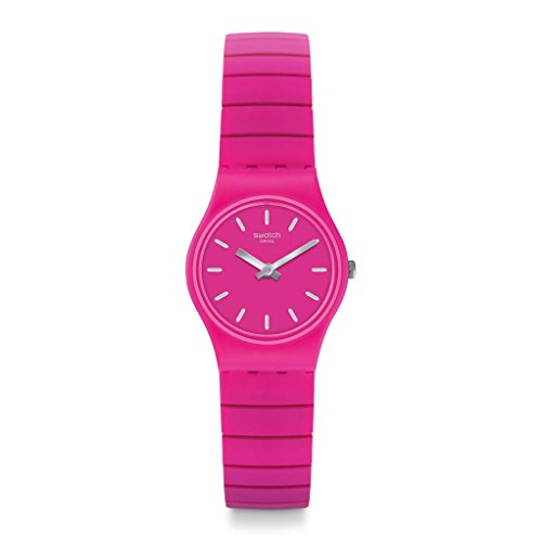Swatch Originals Flexipink Pink Dial Stainless Steel Ladies Watch LP149B
