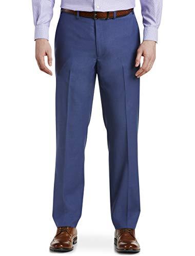 (Michael Kors Solid Flat-Front Suit Pants Blue)