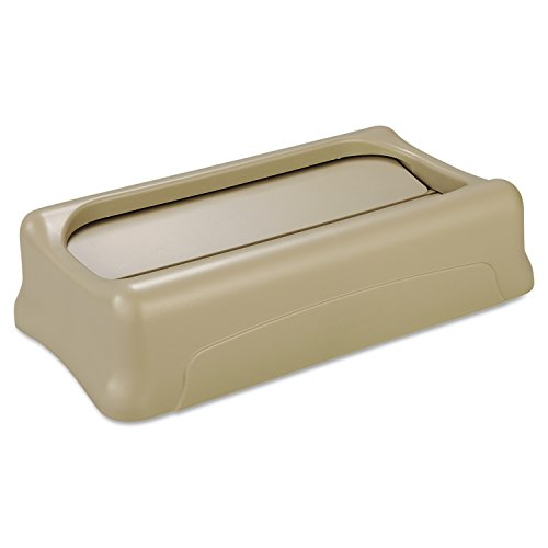 Rubbermaid Commercial FG267360BEIG Swing Lid for Slim Jim Containers, Beige