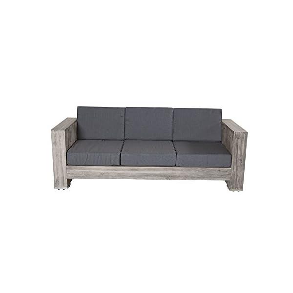 Lounge gruppo Bali in legno di acacia grigio Palette Mobili, gruppo mobili da giardino Outdoor 2 spesavip